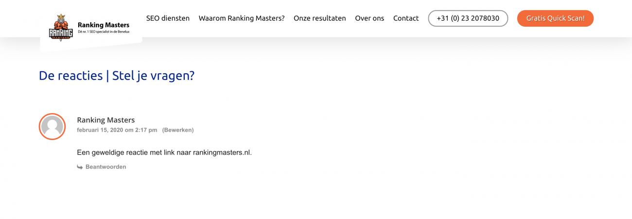 Blog reacties heeft dat nog waarde voor de zoekmachines?